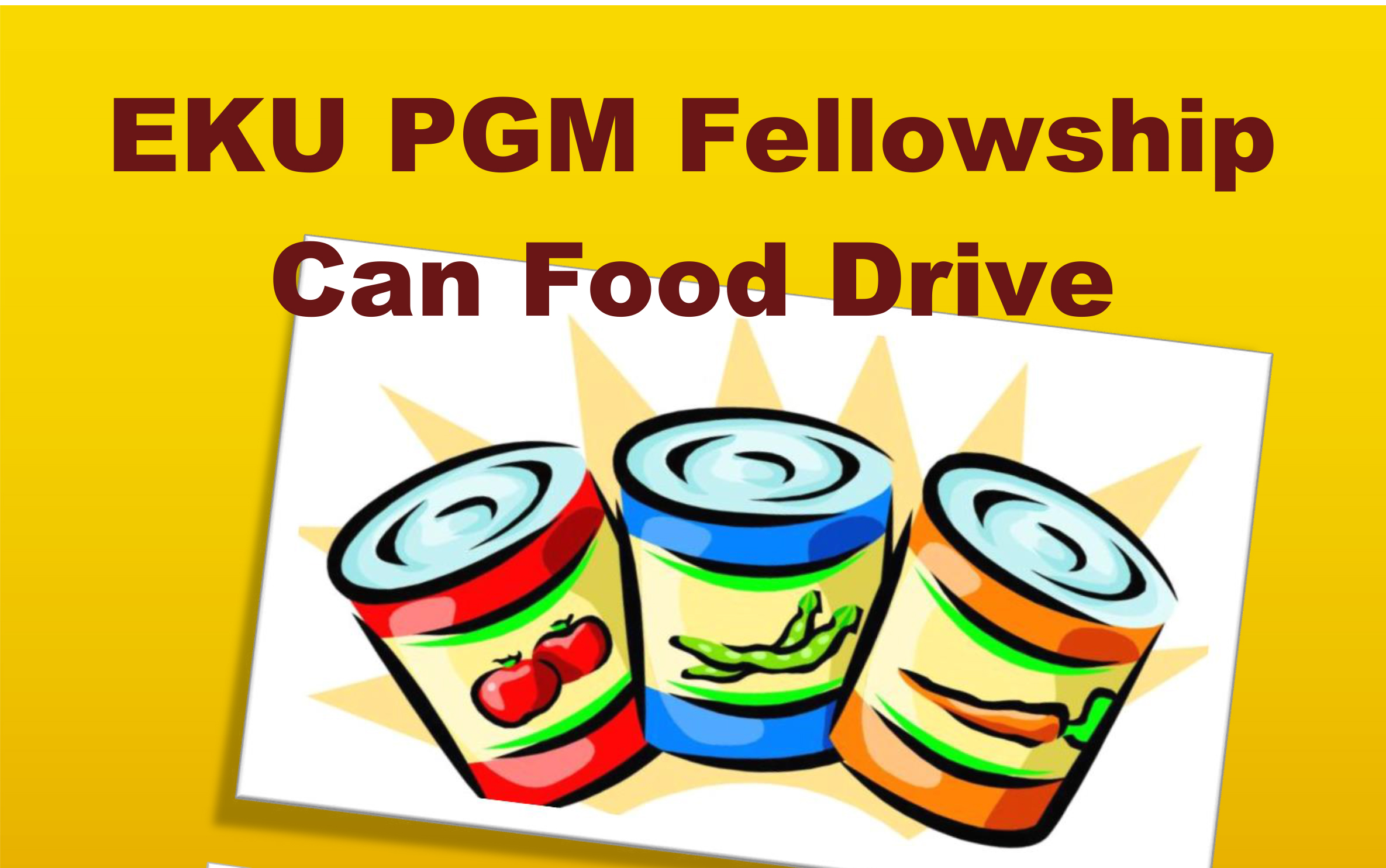 Eku pga gm fellowship food drive pga golf management for Food pantry richmond ky