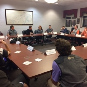 PGM seniors host Mr. Crall for a round table discussion and formal business dinn