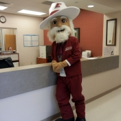 The Colonel hangs out at the PGA Golf Management suite
