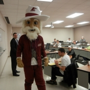 The Colonel visits with Mr. Lingenfelder's class