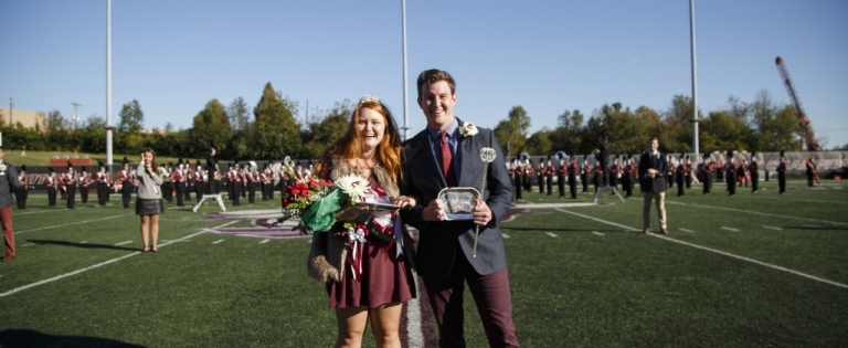 Homecoming Queen and King - Michelle Goda with Curtis Conrad