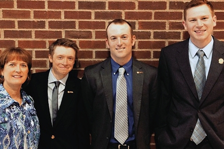 l-r: Kincer, Frey, Stith and Duderstadt