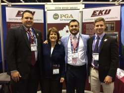 EKU PGM staff are ready to welcome golf pros at the 2018 PGA Merchandise Show