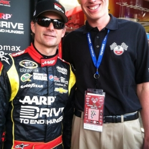 Craig Hicks with NASCAR star Jeff Gordon