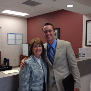 PGM Director Kim Kincer with Dustin Riggs